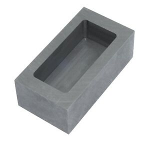 Graphite Ingot Mold Melting Casting Mould for Gold Silver Metal (85x45x30mm -...