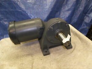 BROWNING Right angle Gearmotor worm gear 230:1 ratio 7.5 RPM 1.5quot; shaft NEW 3PH $275.00