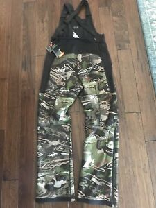 $170 Under Armour Realtree Camo Stealth Mid Season Scent Control Bib Pants Med S