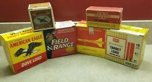 6 EMPTY Ammo Shell Boxes - CONCORDE WINCHESTER AMERICAN EAGLE FEDERAL + more