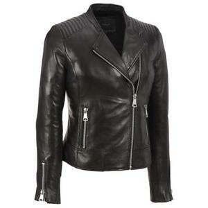 women genuine leather jacket lamb skin Plus Size custom made For Halloween