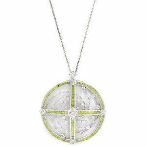 Fancy Yellow Circle Diamond Pendant Necklace On A Long Chain 18.99cts