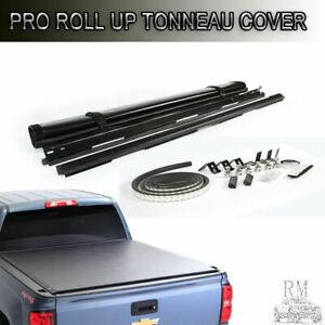 Lock Roll Up Tonneau Cover Fit 2007-2019 Tundra Crewmax Cab 5.5ft/66in Short Bed