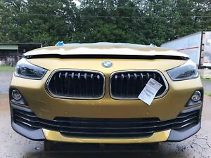 2018 BMW X2 xDrive28i 2.0T AWD AT Front End Clip Nose Gold C1P NTO IIHS Test Car