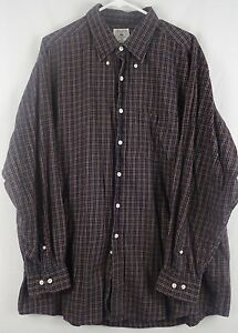 Brooks Brothers Sport Shirt Blue Red Check Long Sleeve Button Front Men's XL