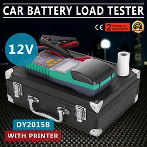 Battery Tester for 12V Lead-Acid Battery With Printer Analyzer Diagnose LCD