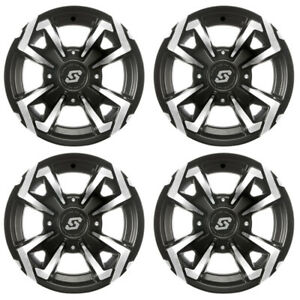 4 ATVUTV Wheels Set 12in Sedona Riot Machined 10mm 4137 5+2 CAN