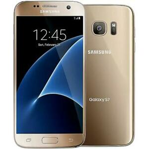 Samsung Galaxy S7 32GB Gold GSM Unlocked ATamp;T T Mobile Smartphone Good