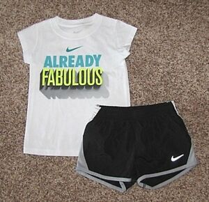 NIKE Set Girl's Shirt & Tempo Running Shorts Size 4