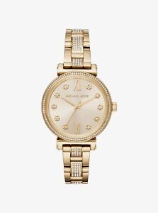 *BRAND NEW* Michael Kors Women's Gold Tone Stainless Steel Bracelet Watch MK3881