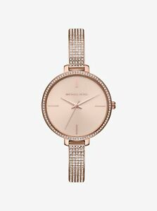 *BRAND NEW* Michael Kors Women's Rose Gold Stainless Steel Bracelet Watch MK3785