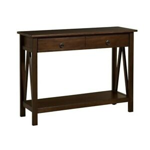 Riverbay Furniture Console Table in Antique Tobacco $147.84