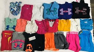 UNDER ARMOUR Lot 16 Heat Gear Shorts Bras Shirts Tanks Sweatshirts Hoodies XS