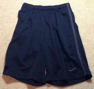 Men's NIKE Athletic Running Fitness Basketball Shorts Black Size Small ZH $19.99