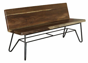 Foundry Select Culpeper Wood Bench with Back Rest