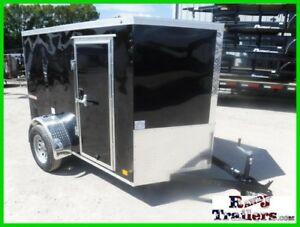 5 x 8 8' Small Motorcycle Lawn Mower Tool Camping V Nose Enclosed Cargo Trailer