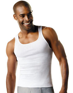 Hanes Undershirt 7 pack Mens FreshIQ ComfortSoft Tank Bonus White A Shirt Value $19.64