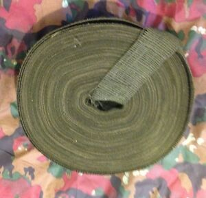 2quot; Wide Army Hunting Designer Camouflage Olive Green Burlap Roll 100 Yd Length