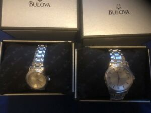 Bulova Corporate Silver Dial Stainless Steel Bracelet Watch - Lot of 2