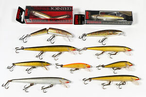 11 Rapala Minnow Lures - Original Floating Jointed Long Cast Countdown