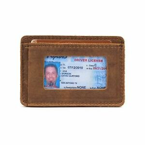 Saddleback Leather Co. Slim Full Grain Leather Front Pocket ID Window Wallet ...