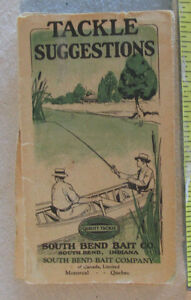 1930s SOUTH BEND Bait Co Lure Box Takle Catalog Booklet Original Old Fold-out