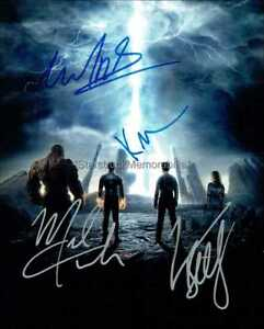 FANTASTIC FOUR AUTOGRAPHS *KATE MARA JAMIE BELL +2* HAND SIGNED 10X8 PHOTO