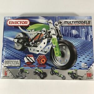 Meccano Real Metal Erector Multimodels Construction Set  5 Sealed Box 110 pieces