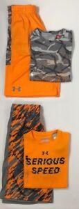 Boy's Youth Under Armour Short Sleeve Shirt and Shorts 2 Piece Set Size L