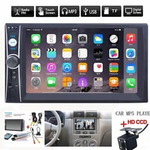 2DIN 7 HD Car Stereo Radio MP5 Player Bluetooth Touch Screen With Rear Camera $60.99