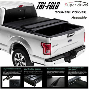 Fits 2004-2007 Chevy Silverado Assemble Lock Tri-Fold Tonneau Cover 5.8Ft Bed