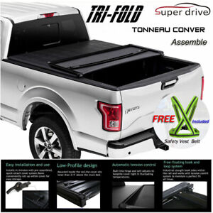 Fit 2007-2019 TOYOTA TUNDRA Assemble Lock Solid Tri-Fold Tonneau Cover 6.5ft Bed