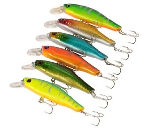 Fishing Lures crankbait Wobbler lure Lot (6-pack) brand new largemouth bass.