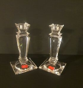 Fifth Avenue Crystal 24% Lead Crystal Candle Stick Holders 6