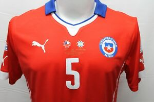 PUMA CHILE MATCH WORN JERSEY SHIRT FINAL COPA AMERICA 2015 SILVA CHAMPIONS