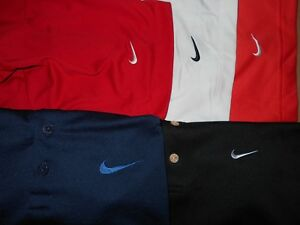 Lot 5 Nike Dri-Fit Fit-Dry Mens Polo Shirts L Large 1 NWOT
