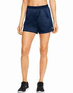 Champion Mesh Shorts Workout Sports Running Women 4 inch Breathable Relaxed Fit