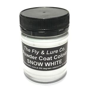 Powder Coat Paint Snow White For Spinnerbaits Jig Heads Fishing Lures