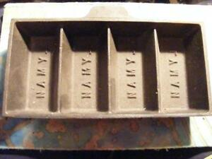 USED LYMAN 4 CAVITY LEAD INGOT MOLD MOULD FOR RELOADER FISHING LURES ETC