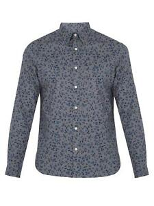 Burberry Connock Floral Sport Shirt L Large $350