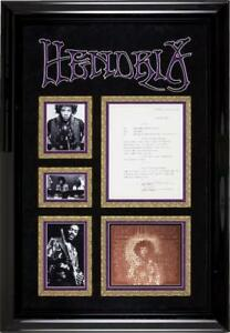 Jimi Hendrix Signed Authentic 1969 Document Display Framed Epperson