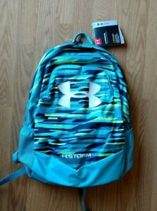Under Armour STORM Laptop Backpack Full-Size Scrimmage Boys Blue Green UA NEW