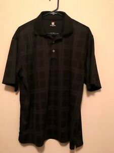 Mens 2 Under large Polo shirt dark and light gray print $5.00