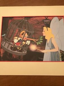 DISNEY STUDIOS EXCLUSIVE COMMEMORATIVE LITHOGRAPH PINOCCHIO THE BLUE FAIRY 1993 $59.95