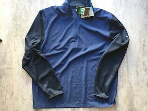 NIKE Golf Dry-Fit 12 Zip Pullover Men's Polo Shirt NEW Long Sleeve XL Athletic