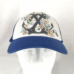 Oneill Tropical Surf Hawaiian Floral Anchor Snapback Mesh Trucker Cap Hat