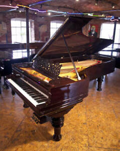 Rebuilt 1886 Steinway Model D grand piano with a rosewood case