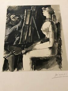 "Picasso – Signed Lithograph ""Picasso and the Human Comedy"" 1953 $395.00"
