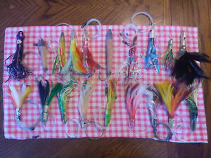Lot of 19 Rigged Big Game Offshore Trolling Fishing Lures Tuna Mahi Marlin #1