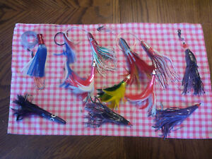 Lot of 6 Rigged sets Big Game Offshore Trolling Fishing Lure Tuna Mahi Marlin #5